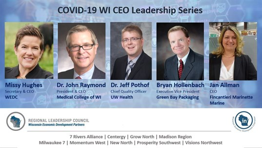 COVID-19 WI CEO Leadership webinar graphic