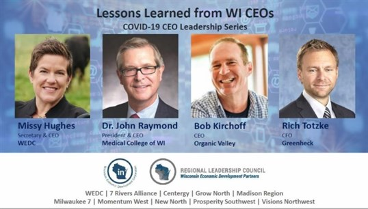 Lessons Learned from WI CEOs webinar graphic