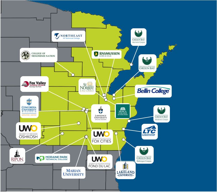 New North educational institutions graphic